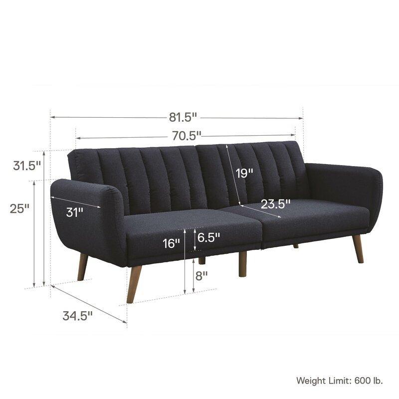 Attrayant Novogratz Brittany Convertible Sofa