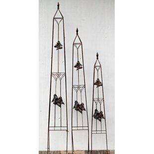 Hosteen 3 Piece Butterfly Obelisk Trellis Set Image