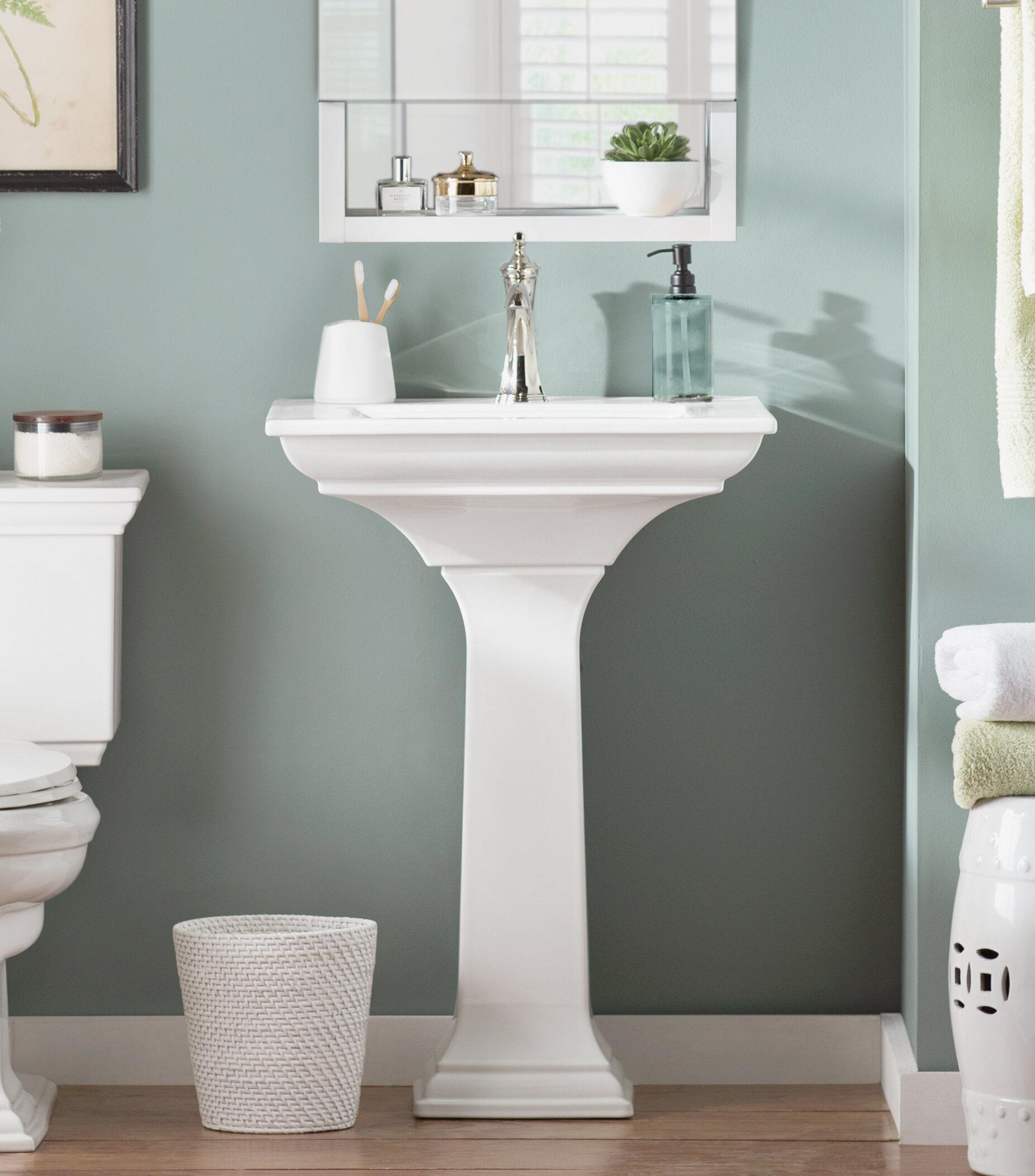 K 2344 8 0 1 0 4 0 Kohler Memoirs Ceramic Pedestal Bathroom Sink With Overflow Reviews Wayfair