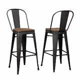 28 Bar Stool (Set of 2) by 17 Stories