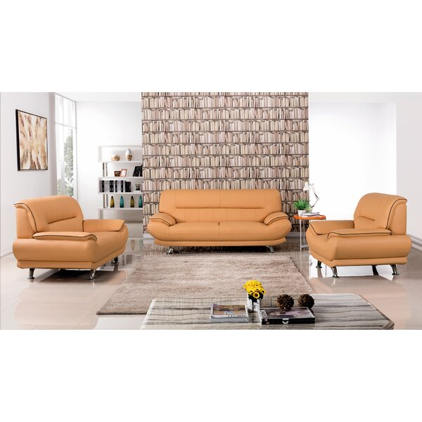 Modern & Contemporary Leather Sofa And Loveseat Set | AllModern