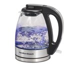 1 Qt Compact Stainless Steel/Glass Electric Tea Kettle