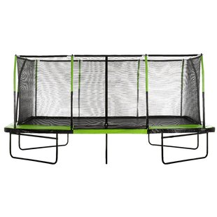 Upper Bounce Mega 10' x 17' Trampoline with Safety Enclosure