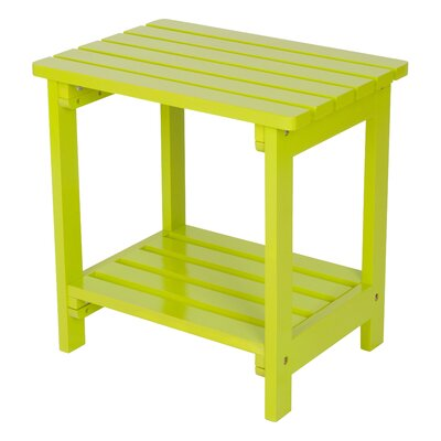 Arcel Wood Side Table Color: Lime Green by Beachcrest Home