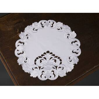 August Grove Breen Embroidered Easy Care Round 16 Placemat Reviews