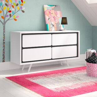 Order Brand 4 Drawer Double Dresser by Trule Teen