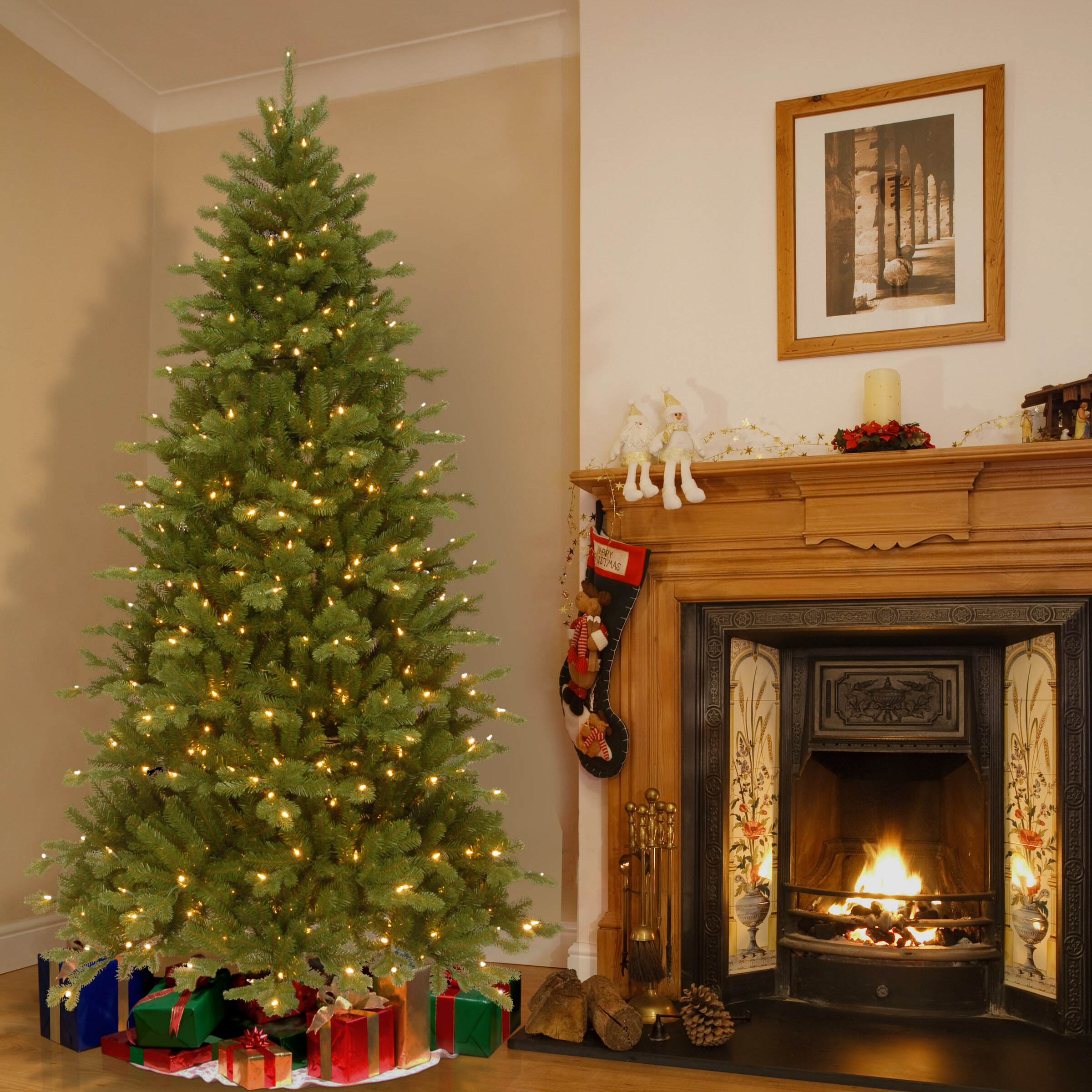 Beachcrest Home 7.5\' Green Spruce Trees Artificial Christmas Tree ...