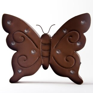 Marquee LED Lighted Butterfly Sign Wall Decor Battery Operated Wall Décor By Glitzhome