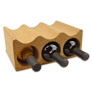 Teressa Cork 3 Bottle Tabletop Wine Rack by Wrought Studio