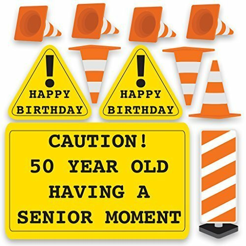 11 Piece 50th Birthday Yard Decoration Sign Set