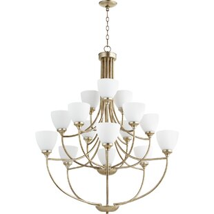 Quorum Enclave 15-Light Shaded Chandelier