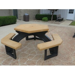 Simms Plastic/Resin Picnic Table by Freeport Park