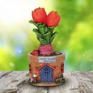 Digiacomo Solar Tulip Pot House Fairy Garden by August Grove