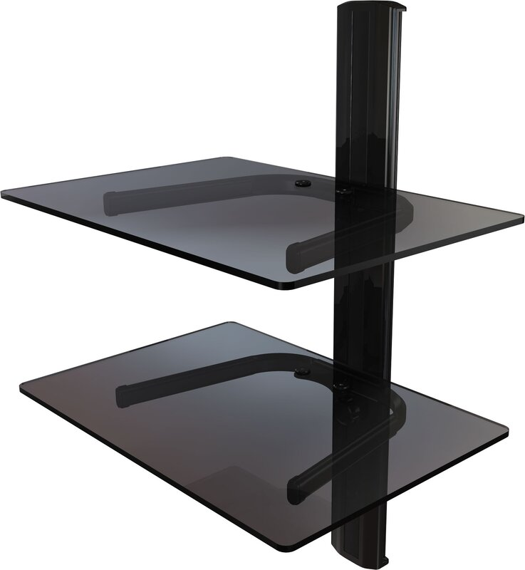 dual shelf wall mount system with cable management