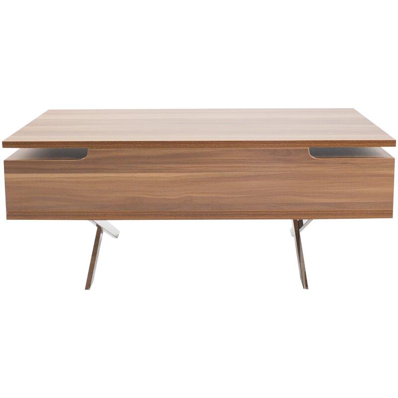 Wood Lift Top Coffee Tables: Wrought Studio Denson Melamine Veneer Wood Hidden Storage