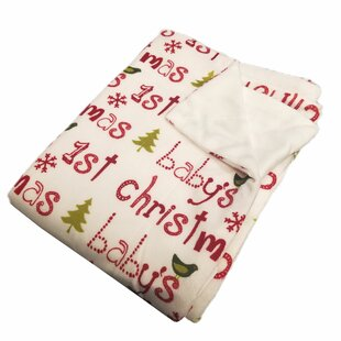 Best Reviews ConCo Baby's 1st Christmas Micro plush Baby Blanket ByThe Holiday Aisle