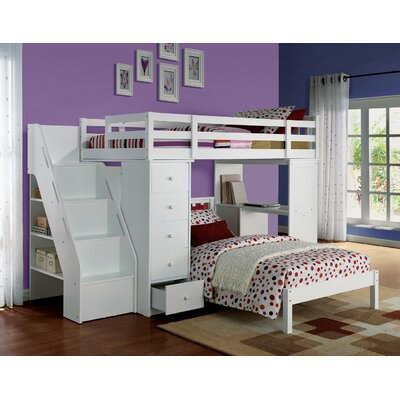 Montelimar Wooden Full Bed with Bookcase Harriet Bee