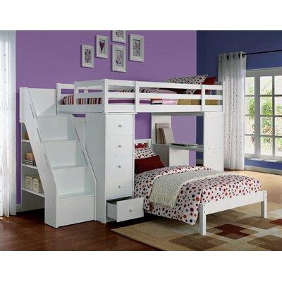 Montelimar Wooden Full Bed with Bookcase Harriet Bee