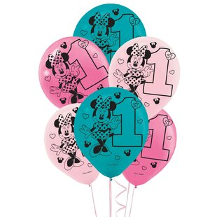 Disney Minnie Mouse 1st Birthday Disposable Balloon