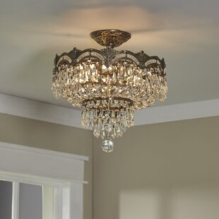 House of Hampton Rupelmonde 3-Light Semi Flush Mount