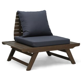 Celestine Outdoor Patio Chair with Cushions (Set of 2) by Longshore Tides