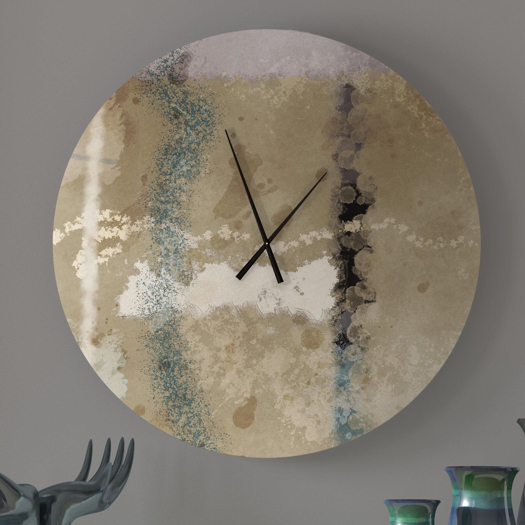 Latitude Run Kissable Abstract Metal Wall Clock Wayfair