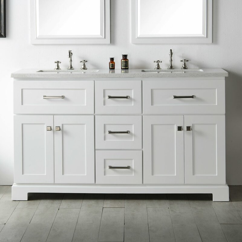 Gracie Oaks Torbett 60 Quot Double Bathroom Vanity Amp Reviews