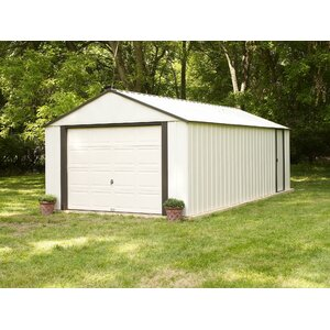 Murryhill 12 ft. 2 in. W x 16 ft. 11 in. D Metal Garage Shed