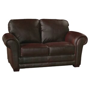 Mark Leather Loveseat by Luke Leather