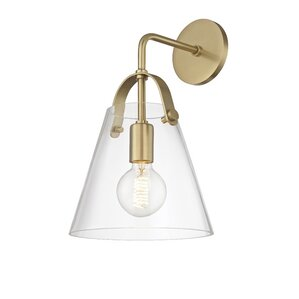 gingasen 1light armed wall sconce with dimmer switch