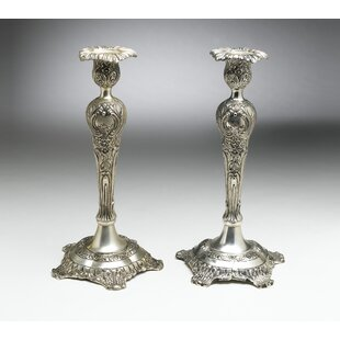 Brass Candlesticks (Set of 2) by Ophelia & Co.