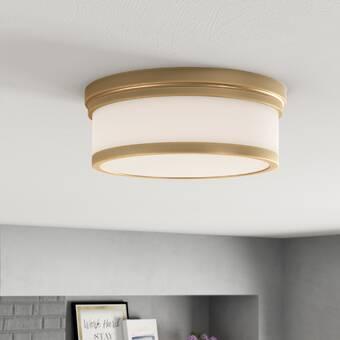 Ebern Designs 2 Light 14 Unique Statement Circle Flush Mount Wayfair