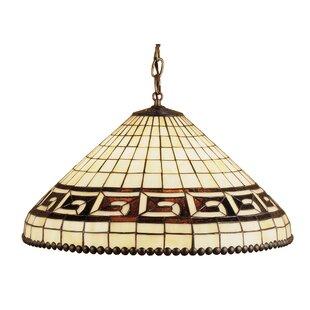 Deco Greek 3-Light Bowl Pendant by Meyda Tiffany