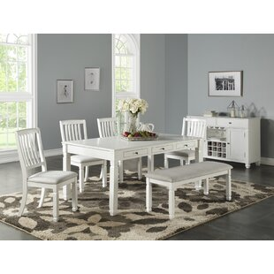 Buford 6 Piece Dining Set by Highland Dunes 2019 Coupon