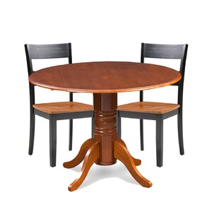 Cordell 3 Piece Drop Leaf Breakfast Nook Solid Wood Dining Set