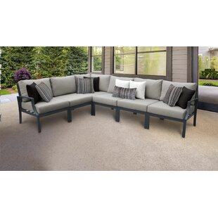 Benner Outdoor 6 Piece Sectional Seating Group with Cushions
