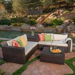 Benbow 6 Piece Rattan Sofa Set with Cushions