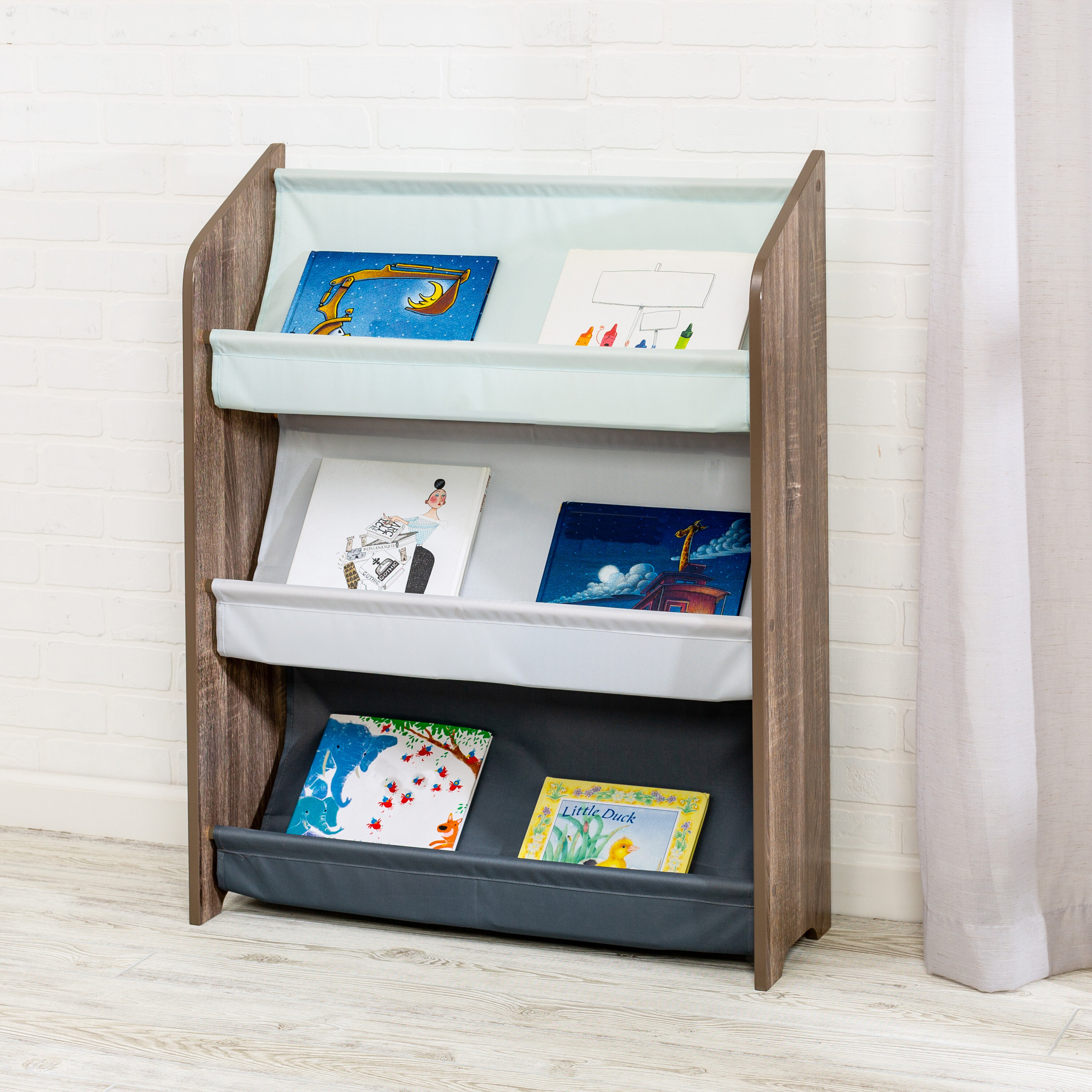 Brackets & Clamps Brackets Furniture Bookcase Shelve Toy Storage Rack Multi-color Pocket Wooden Shelf For Kids Wooden Book Storage Convenient To Cook