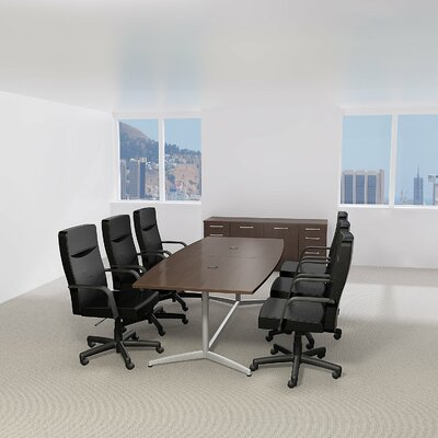 Bush Business Furniture Eden 60000 Series Boat Shaped Conference Table Size: 28.65 H x 95.2 L x 42.01 W, Top Finish: Hansen Cherry