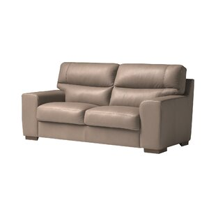 Cannes Leather 2 Seater Sofa By Ebern Designs