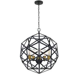 Brayden Studio Severn Beach 5-Light Geometric Chandelier