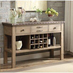 Neve Wood/Metal Buffet Table by Gracie Oaks
