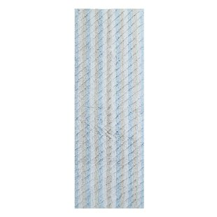 Dansby Stripe Cotton Textured Bath Rug