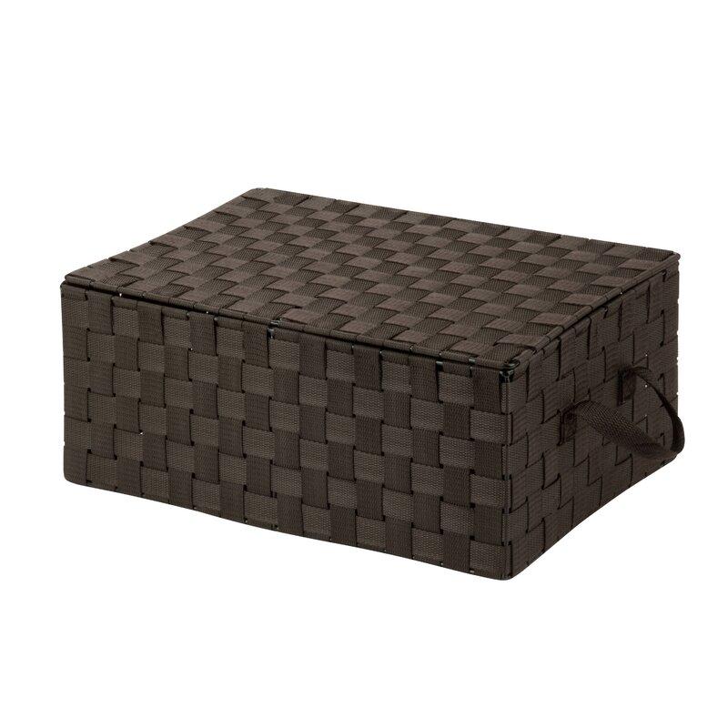 Superb Hinged Lid Woven Storage Box