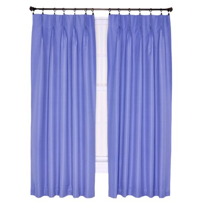 "Crosby Insulated Pinch Pleated Foamback Thermal Single Curtain Panel Ellis Curtain Size per Panel: 48"" W x 63"" L, Curtain Color: Slate"