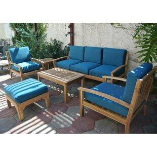 Waterford 6 Piece Teak Sofa Set with Sunbrella Cushions by IKsunTeak