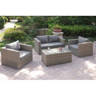 4 Piece Sofa Set with Cushions by JB Patio
