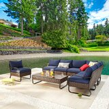Honaz Outdoor 8 Piece Sofa Seating Group with Cushions by Red Barrel Studio®