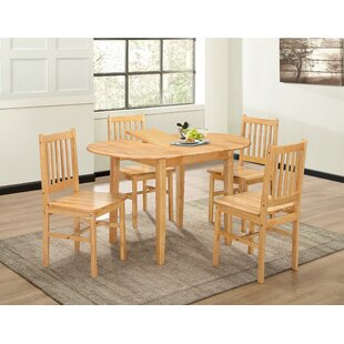Discount Callaway Extendable Dining Set With 4 Chairs