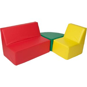 Straight Back 3 Piece Soft Seating